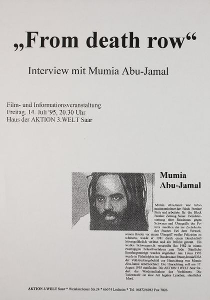 Datei:1995-07-14 Losheim From death row Mumia Abu-Jamal kl.jpg
